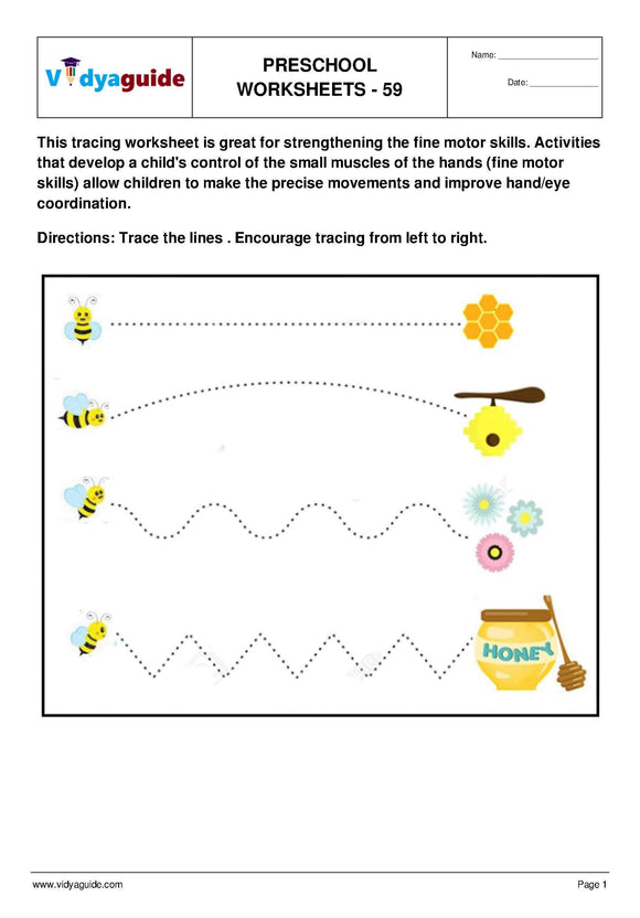 Free Printable Preschool worksheet - 59