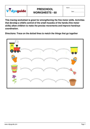 Free Printable Preschool worksheet - 60