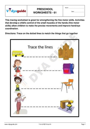 Free Printable Preschool worksheet - 61