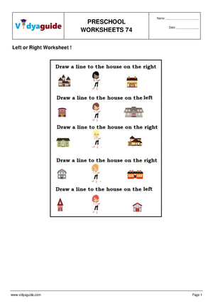 Download free printable Preschool worksheets - 74