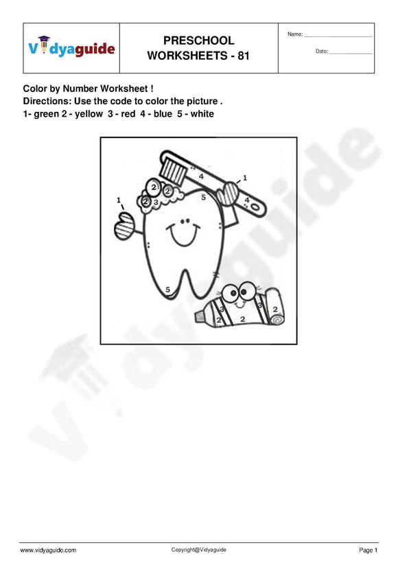 Preschool printable worksheets free download - 81