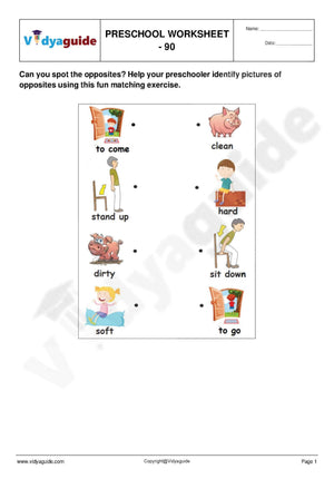Free Preschool worksheets for download - 90