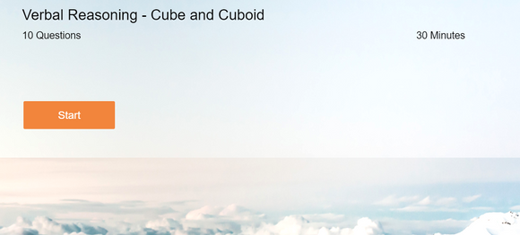 Verbal Reasoning - Online tests on Cube and Cuboid