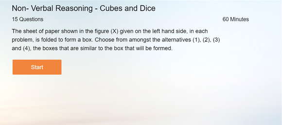 Non-Verbal Reasoning - Online tests on Cubes and Dice