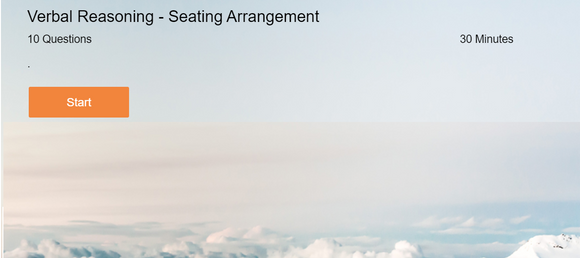 Verbal Reasoning - Online tests on Seating arrangement
