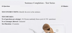 Sentence completion practice tests