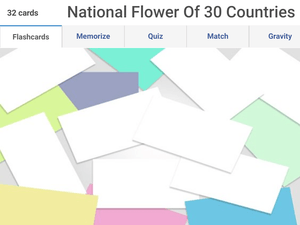 Online G.K Olympiad questions - National flowers