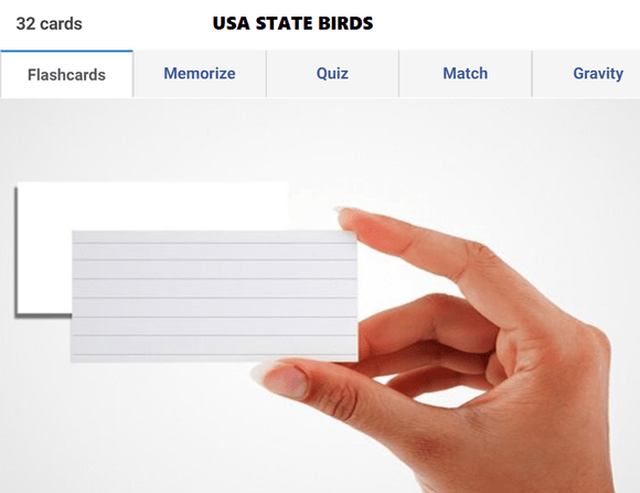 Static G.K preparation guide - State birds of USA