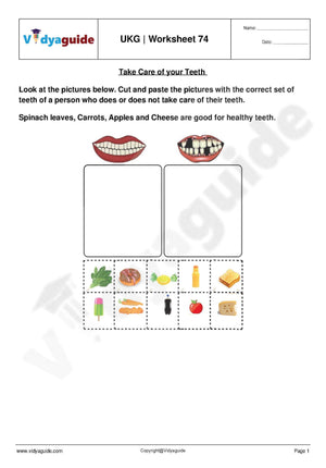 Download Upper Kindergarten UKG worksheets - 74