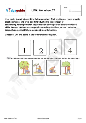 UKG Worksheets PDF free download - 77