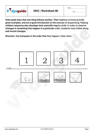 UKG Worksheets PDF free download - 80