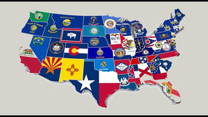 Learn U.S State flags with online flashcards