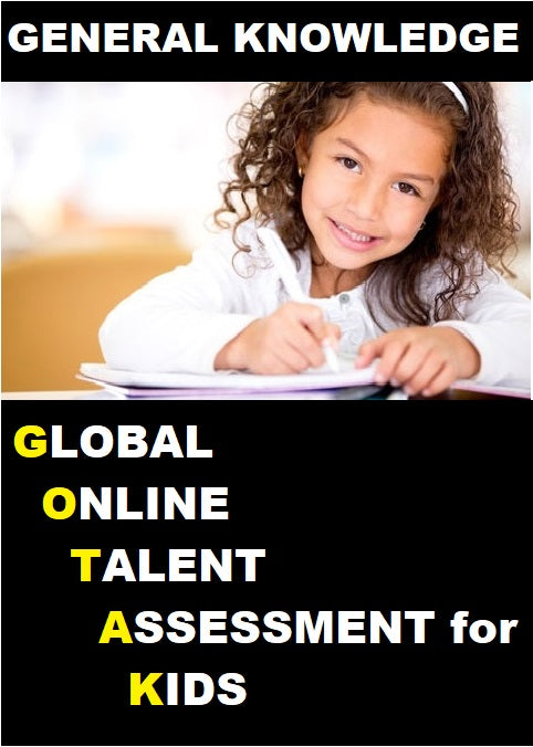 Class 3, Global Online Talent Assessment for Kids (GOTAK) - G.K - Olympiad
