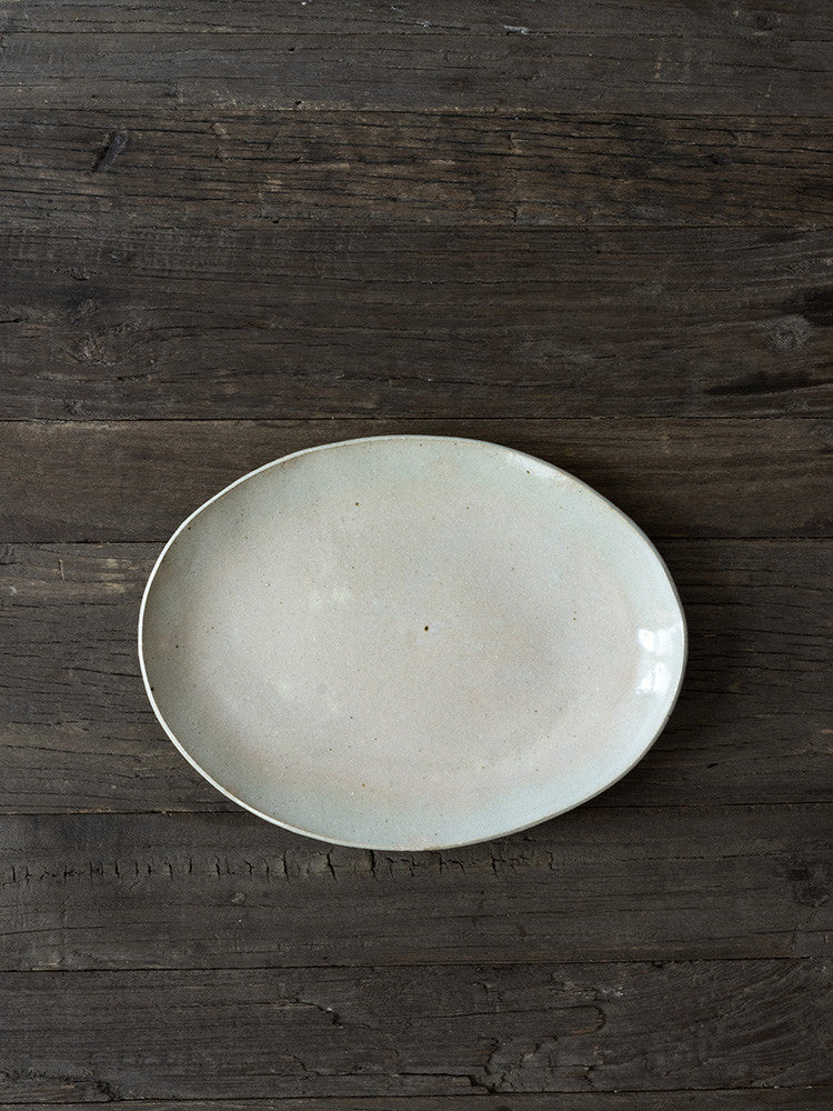 Tarala Ceramic Ellipse Plate - rikumo japan made
