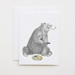 Albert Finnegan Black Bear Greeting Card