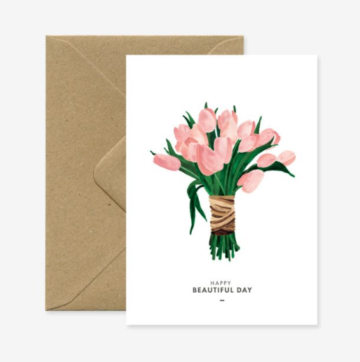 Greeting Card - Beautiful Day Tulips