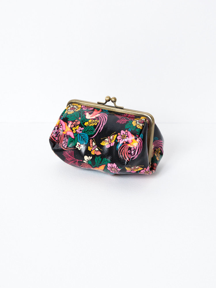 Cosmetic Bag - Bird and Flower Black