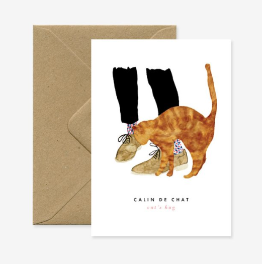 Greeting Card - Calin de Chat