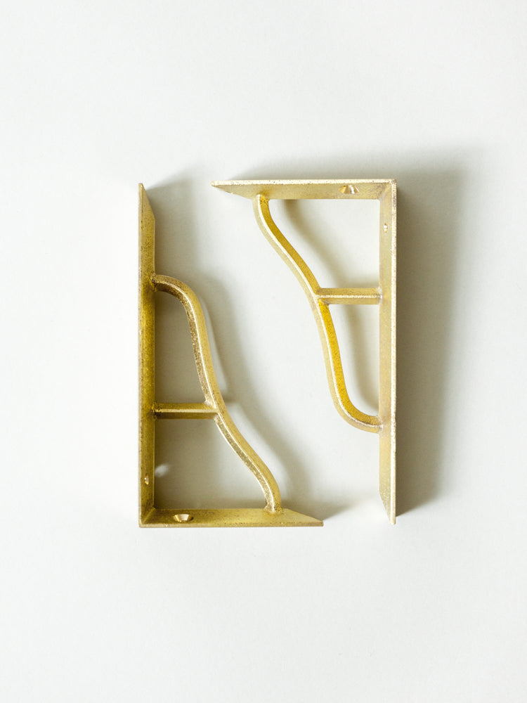 Futagami Brass Shelf Bracket - rikumo japan made