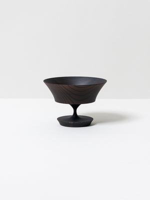Sinafu Small Stand Bowl - Hasori (Black)