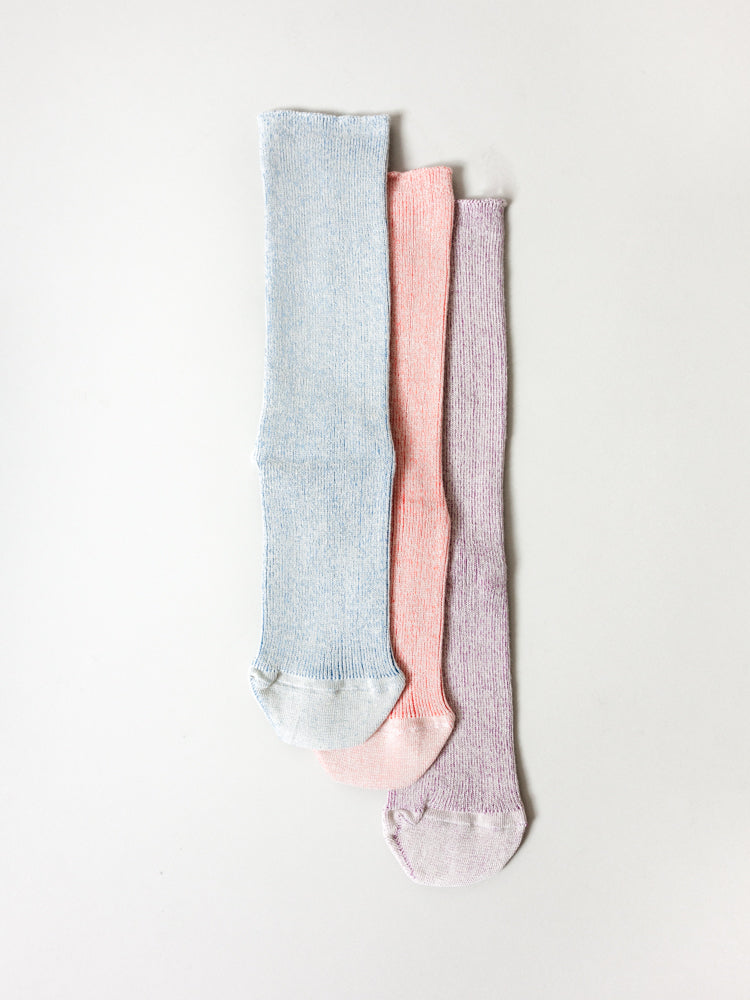 Organic Heathered Stretch Socks