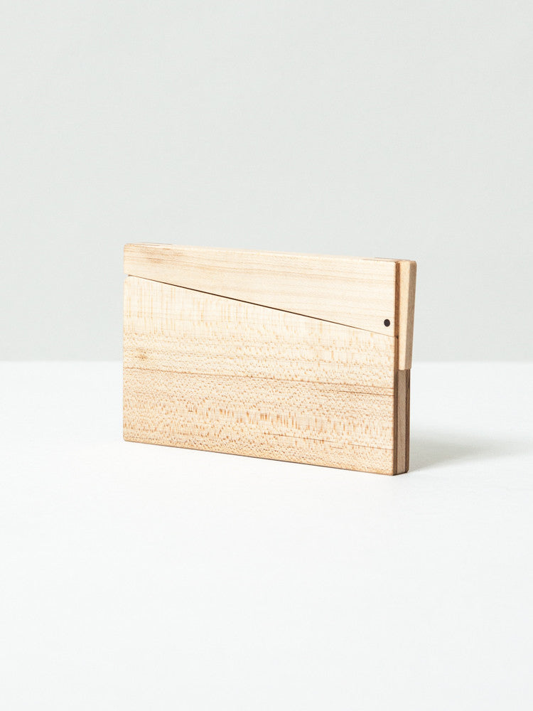 Tanno Wood Card Case - Spring - rikumo japan made