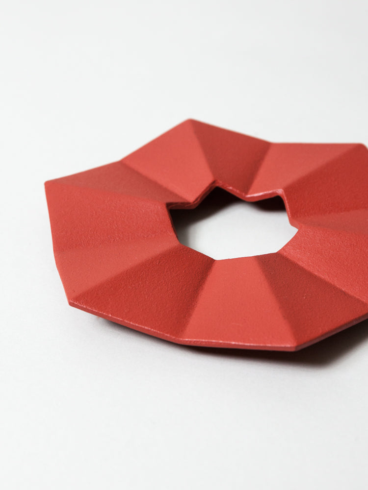 Iwachu Cast Iron Trivet - Origami Red