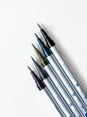 Akashiya ThinLine Brush Pen Set