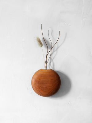 Usuda Wooden Hanging Vase - Cherry