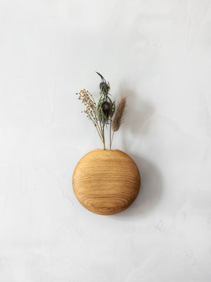 Usuda Wooden Hanging Vase - Oak