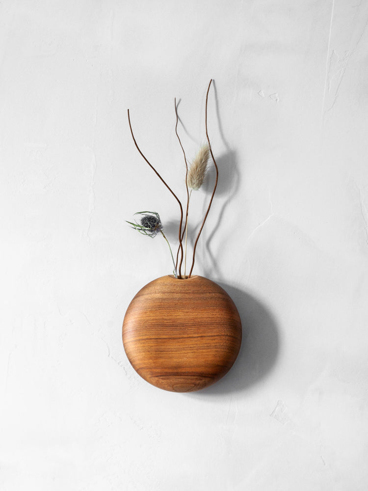 Usuda Wooden Hanging Vase - Walnut