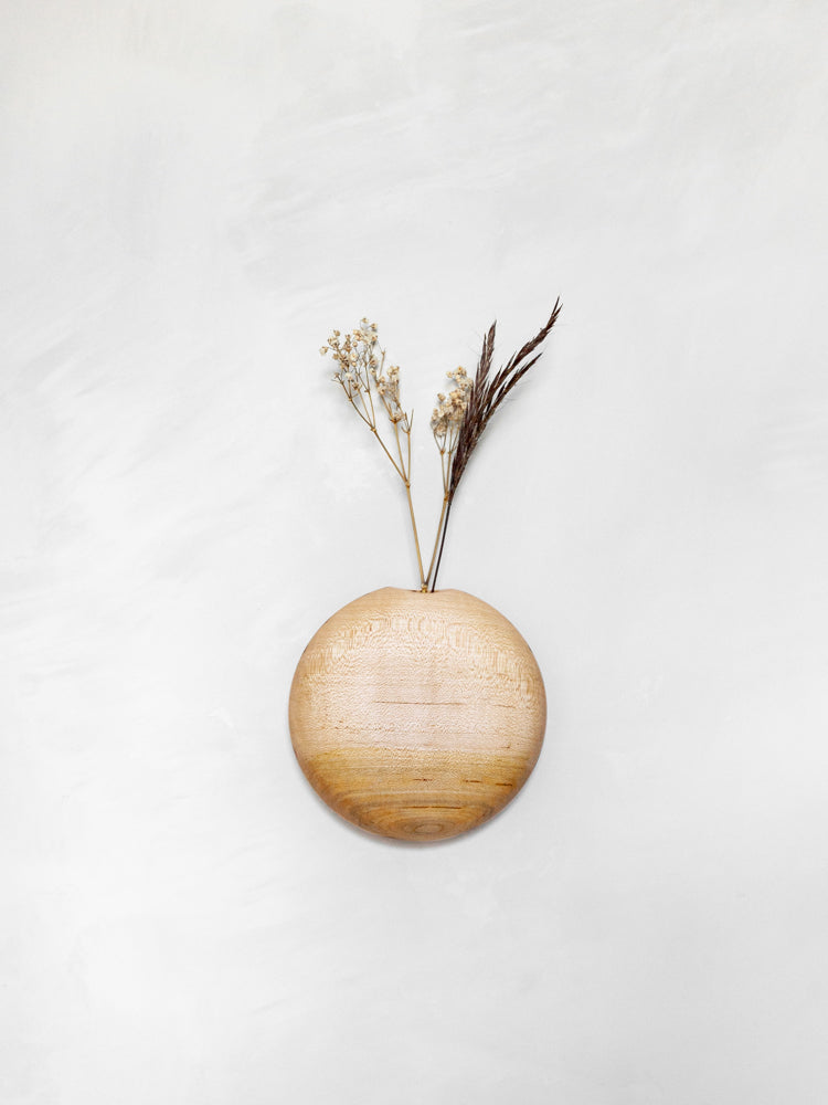 Usuda Wooden Hanging Vase - Maple