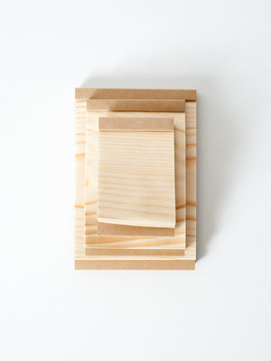 Kizara Wood Sheet Memo Pad - rikumo japan made