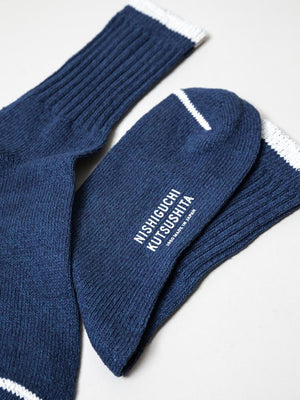 Silk Cotton Socks, Blue