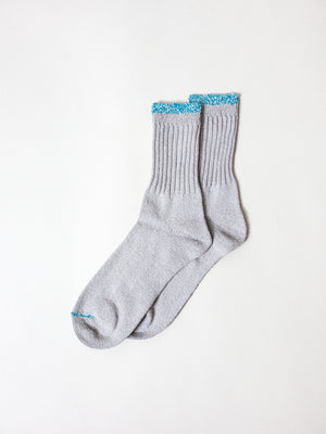 Silk Cotton Socks, Grey