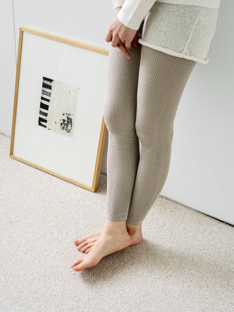 Silk Ribbed Leggings