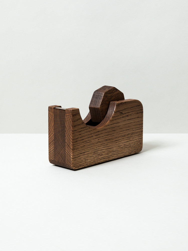 Oak Village Wooden Tape Dispenser, Large - rikumo japan made