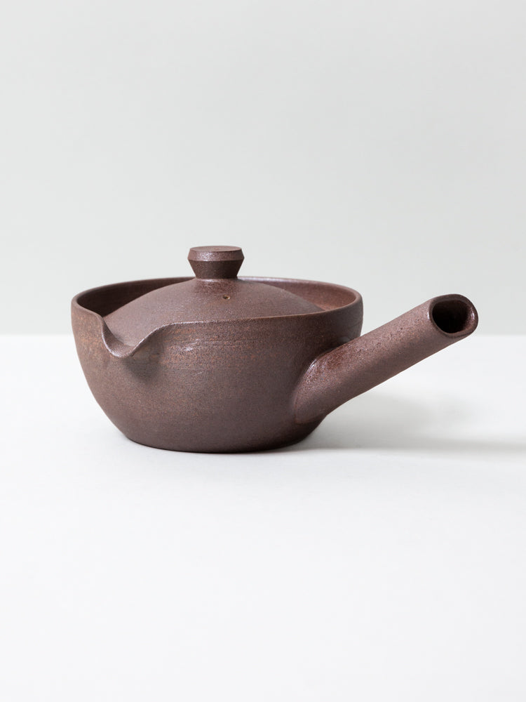 Yakishime Tea Pot - Brown