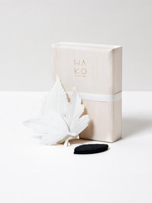 HA KO Paper Incense - Wooden Box Set of 5 With Incense Mat
