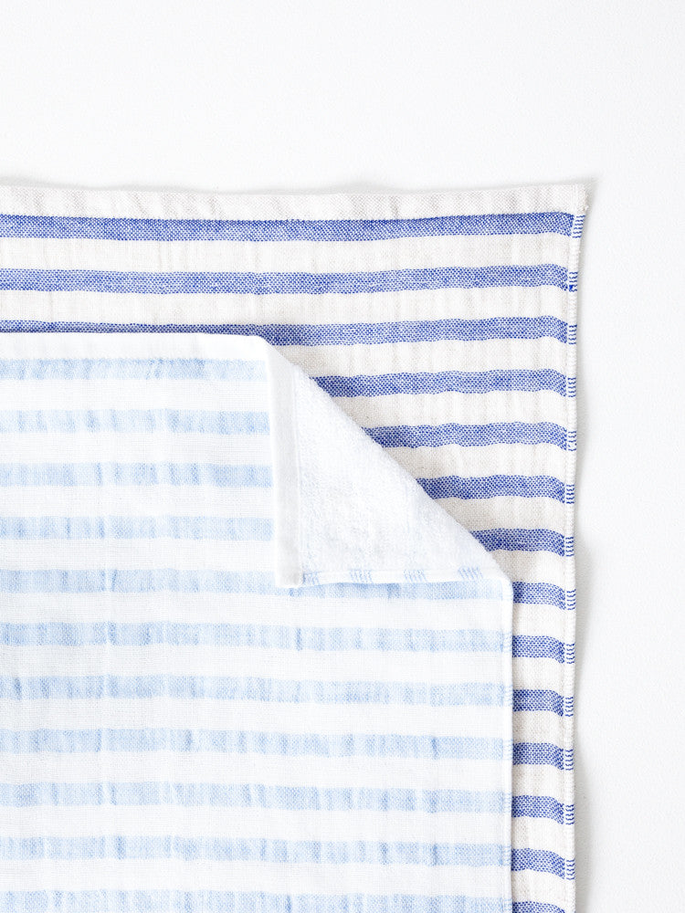 Linen Border Towel - rikumo japan made