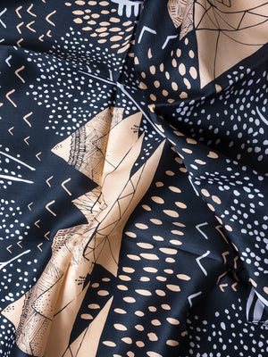 "LINK Furoshiki ""Mountain Blossom"" - Midnight Blue"