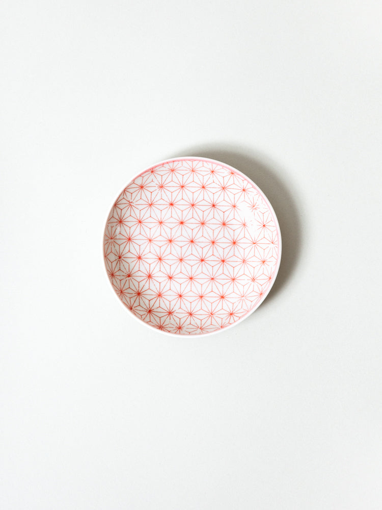 Mame Zara Little Dish - Red Asanoha