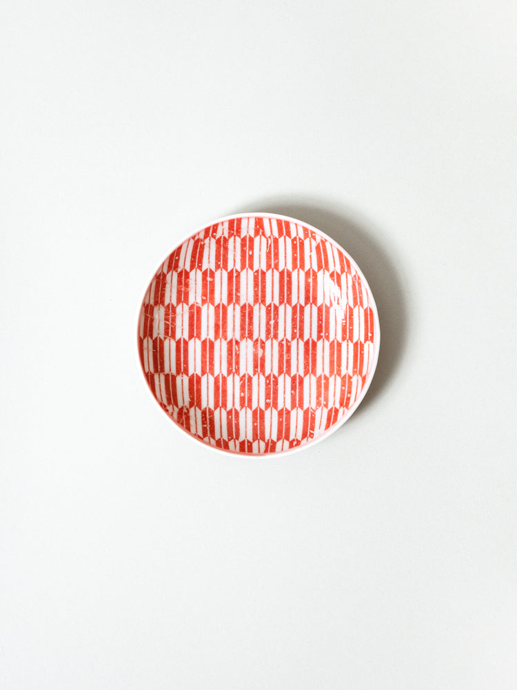 Mame Zara Little Dish - Red Yagasuri