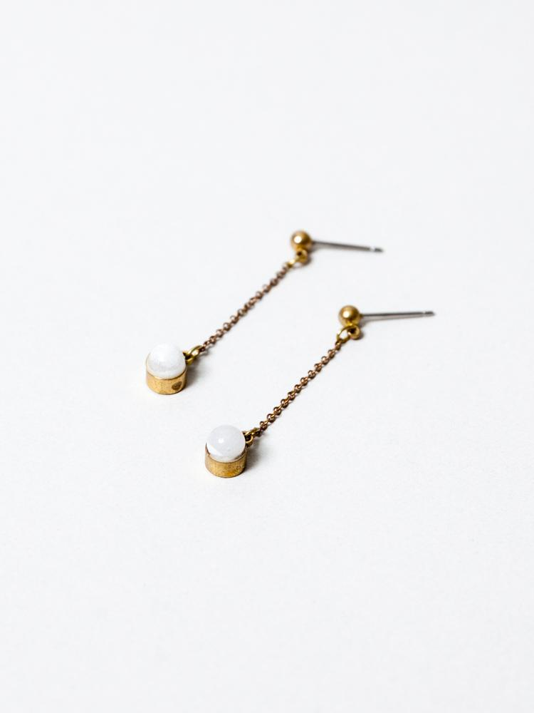 Megumi Aqua Drop Earrings