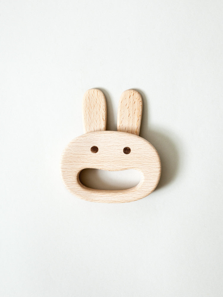 Beech Wood Bunny Rattle - rikumo japan made