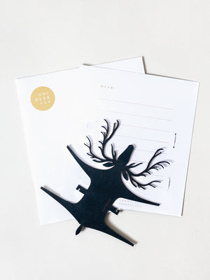 Leather Deer Card