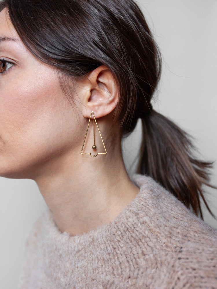 SUN Triangle Earring