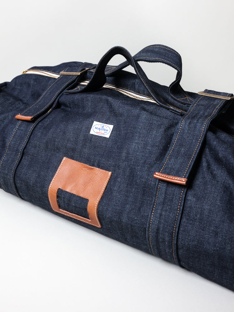 Denim Overnight Travel Bag