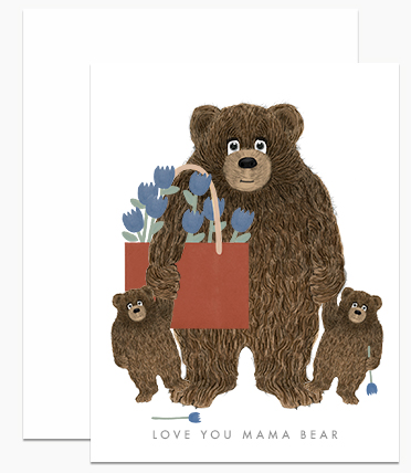 Greeting Card - Love You Mama Bear