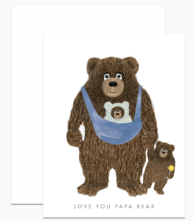 Greeting Card - Papa Bear